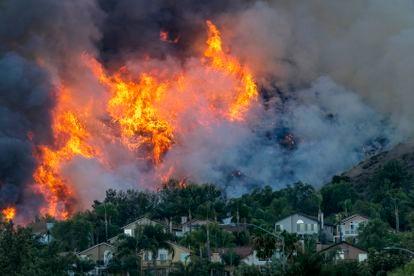 Imagen de los incendios que azotaron a California en octubre de 2020.