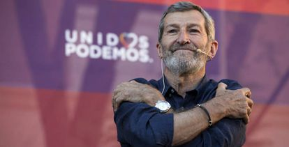 Julio Rodríguez, durante un mitin de Unidos Podemos.