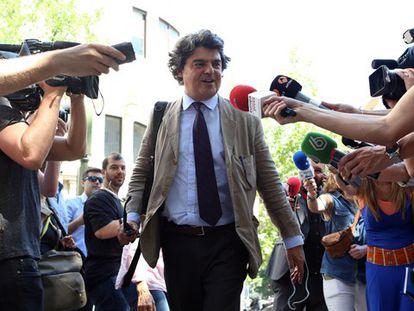Jorge Moragas, a su llegada al Comité Nacional del PP.