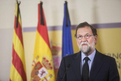 Mariano Rajoy, el jueves en Barcelona.