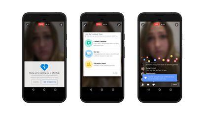 Facebook renueva su interfaz para facilitar que los usuarios, ayudados por el sistema de detección de inteligencia artificial de Facebook, informen sobre casos de riesgo de suicidio.