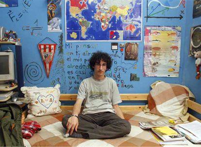 Josué Tonelli, en su casa de la capital vizcaína.
