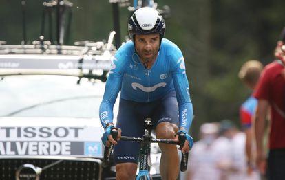Alejandro Valverde, en la crono de la penúltima etapa del Tour.