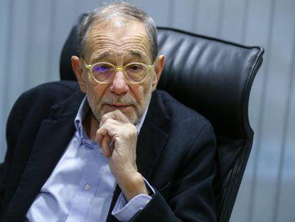 Javier Solana, el pasado diciembre, en Madrid.