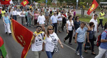 Activistas turcos marchan por la libertad de los presos políticos en Viena.