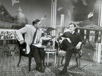 William F. Buckley Jr. y Gore Vidal en un debate en 1968.