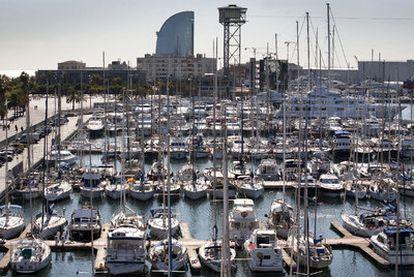 La marina del Port Vell, en Barcelona, tiene 413 plazas de amarre.