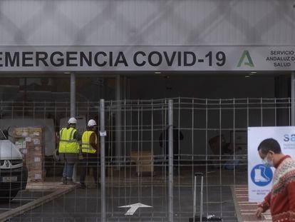 Obras en el Hospital Militar de Sevilla.