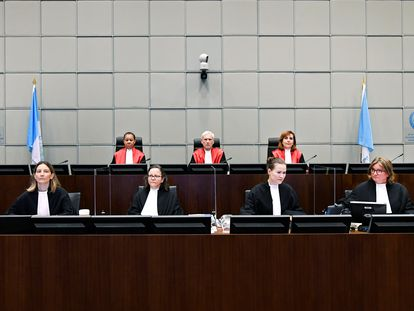 El tribunal que juzga el caso de la muerte de Rafik Hariri y 21 personas más, este martes en Leidschendam, en los Países Bajos.