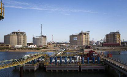 Planta de regasificación de Huelva de Enagas