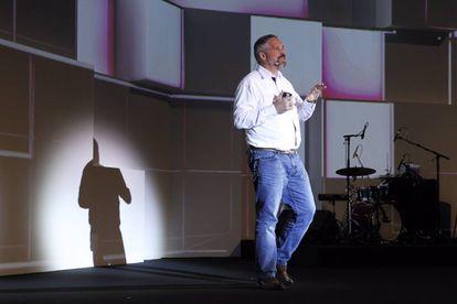 Emmanuel Mogenet, líder del European Google Research, durante su intervención