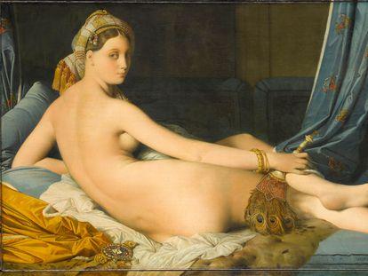 'La gran odalisca', copia de Jean-Auguste-Dominique Ingres.