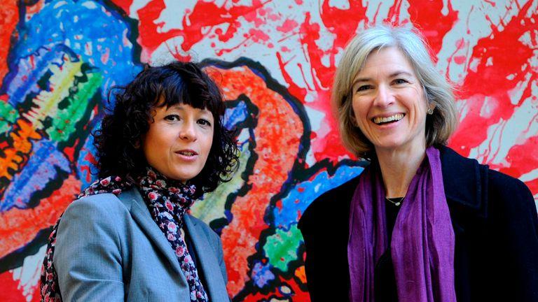 Emmanuelle Charpentier, izquierda, y Jennifer Doudna, derecha, creadoras del sistema de edición genética CRISPR.