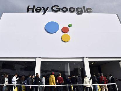 Uno de los espacios de Google en el CES de Las Vegas 2019.