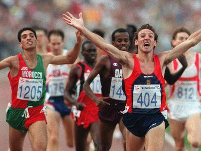 Uno de los protagonistas de Barcelona 92, Fermín Cacho en la final de 1.500 metros.