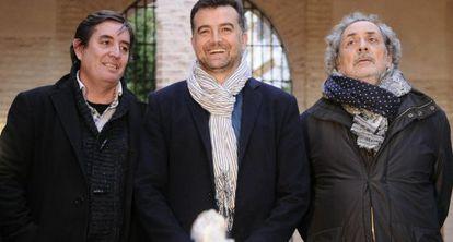 Luis García Montero, Antonio Maíllo y José Chamizo.