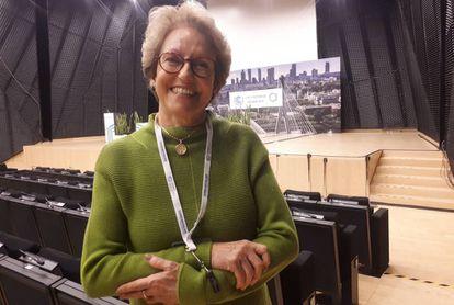 Thelma Krug, vicepresidenta del IPCC, en la cumbre del clima de Katowice.
