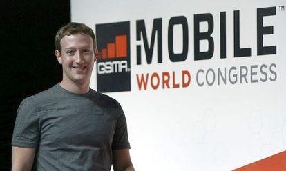 Mark Zuckerberg durante el congreso de 2015.