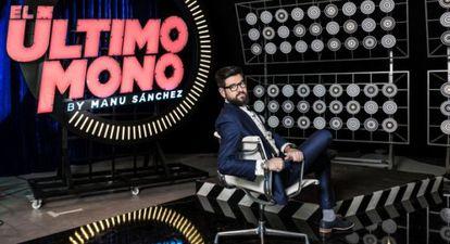 Manu Sánchez en el plató de 'El Último Mono'.