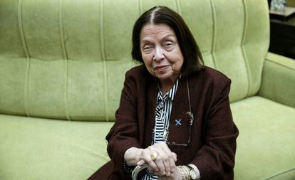 La escritora brasileña Nélida Piñon en Madrid en octubre pasado.