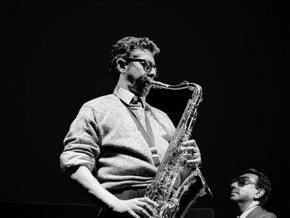 Barney Wilen y Tete Montoliu en un momento del concierto de 1988. / Jean-Philippe Pichon