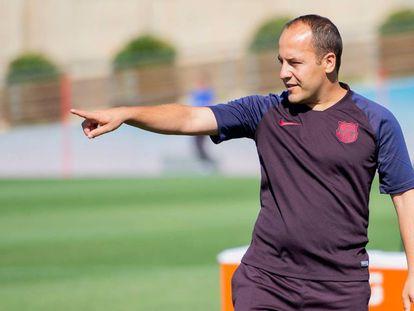 Lluís Cortès, entrenador del Barcelona femenino.