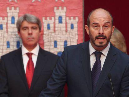 Pedro Rollán, cuando tomó posesión en 2015.