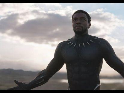 """Imagen de """"Black panther"""", de Marvel, mostrando a su protagonista, el rey T'Challa."""