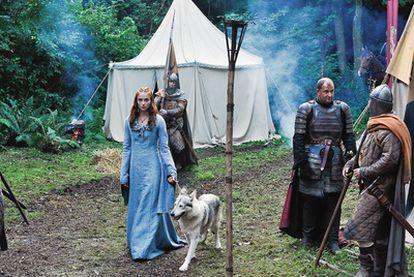 La actriz Sophie Turner, en su papel de Sansa Stark.