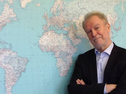 El presidente del Consejo Ártico, el finlandés Härkönen, el 3 de noviembre de 2017 tras la entrevista con EL PAÍS.