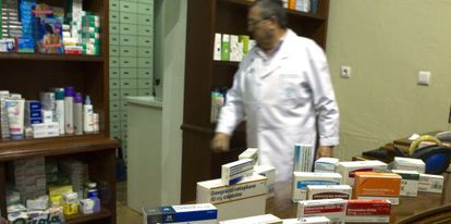 Exposición de genéricos en una farmacia de Sevilla.