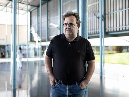 El periodista gallego Anxo Lugilde, el día 23 en Barcelona.