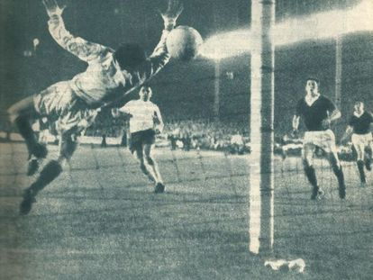 El gol de Puskas en Glasgow.