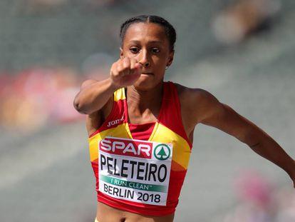 Ana Peleteiro, durante la competencia en los Europeos de Berlín.