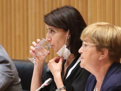 La ministra de Justicia, Pilar Llop, este jueves durante la Comisión de Justicia en el Congreso.