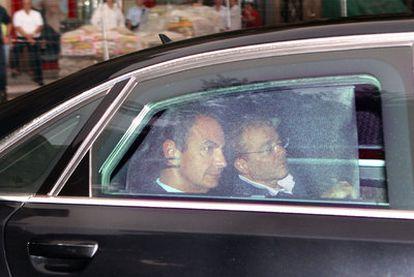 El presidente de Atento, Javier de Paz, junto al presidente del Gobierno, José Luis Rodríguez Zapatero, el pasado domingo.