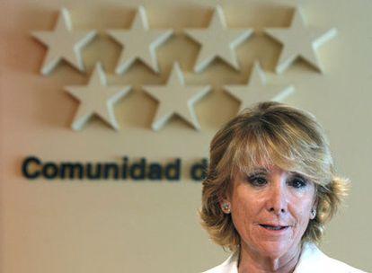 El Gobierno de Esperanza Aguirre (en la foto) dice que la sentencia sólo advierte de errores de forma.