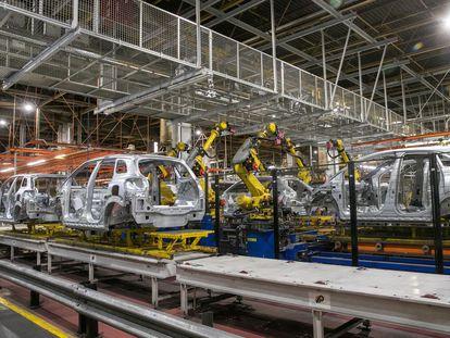 Fábrica de Opel en Figueruelas (Zaragoza), en el parón del 16 de marzo de 2020 con motivo de la pandemia.