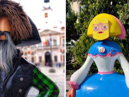 Dos de las meninas de la última edición de Madrid Meninas Gallery, una iniciativa del artista e ingeniero industrial venezonalo Antonio Azzato. |