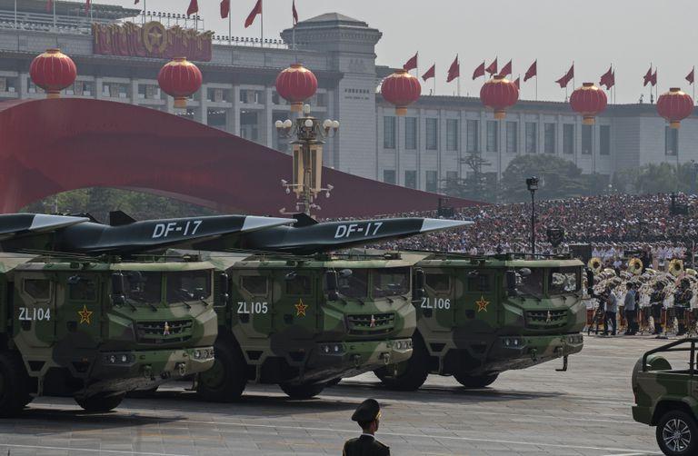 Lanzamisiles en el desfile por el 70º aniversario de la República Popular de China el pasado 1 octubre en la plaza Tiananmen de Pekín.