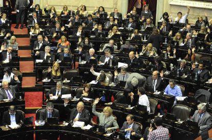 Debate sobre el acuerdo con Repsol en la Cámara de Diputados.