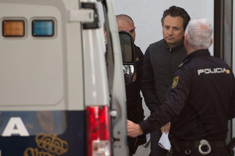 Emilio Lozoya, exdirector de Pemex, durante su detención en España, en febrero pasado.