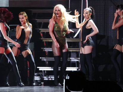 Britney Spears, durante un concierto en Taiwan.