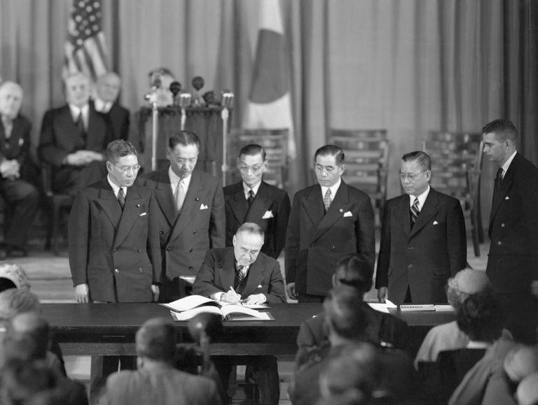 Firma del Tratado de San Francisco, el 8 de septiembre de 1951.