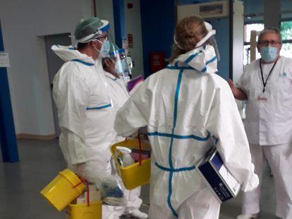 Foto tomada por uno de los usuarios del albergue de San Isidro, donde se ha confirmado un brote de coronavirus.