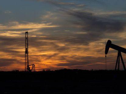 Campo petrolero en Texas