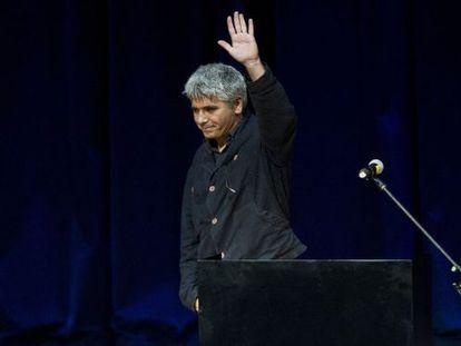 Juan Bonilla, tras ser anunciado ganador del premio Vargas Llosa.