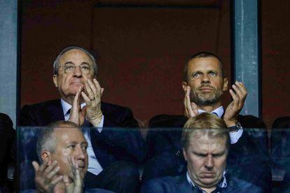 Florentino Perez, and the president of UEFA, Aleksander Ceferin.