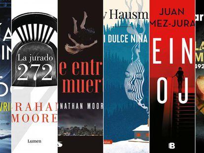 Cinco 'thrillers' y un 'true crime' para leer sin parar