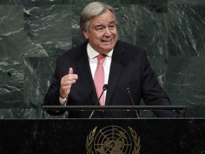 El secretario general en el plenario de las Naciones Unidas